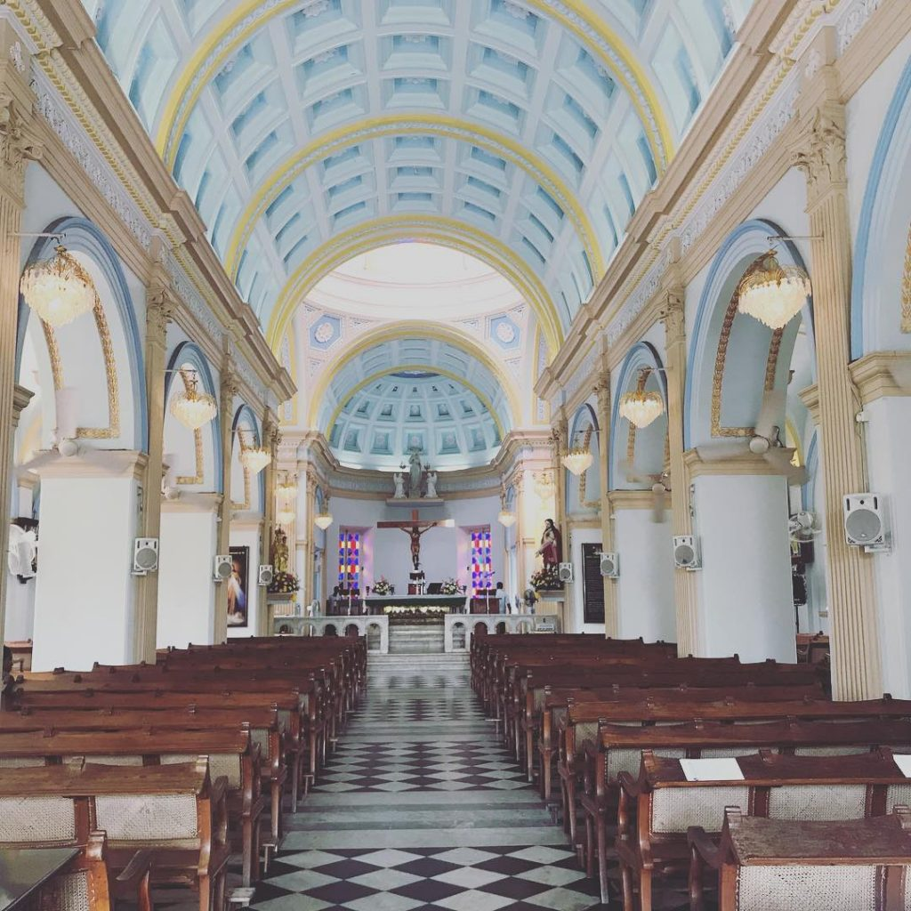 Beautiful our Lady of Angels Church that we visited in 2018 in Pondicherry